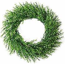 wuayi Green Wreath, Front Door Artificial Spring