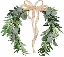 wuayi Spring Wreath, Front Door Simulation Wreath,