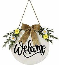 wuayi Strickgarn Welcome Door Hanger, Door