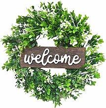 wuayi Welcome Door Hanger, Front Door Decoration