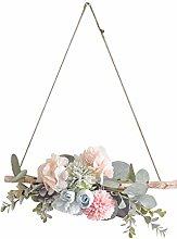 wuayi Welcome Spring Wreath Hanger, Front Door
