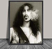 WuChao丶Store Frank Zappa Poster Print Rock Music