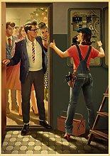 WuChao丶Store Stalin Ussr Cccp Retro Poster Print