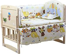 wufeng 5pcs Baby Bed Bumpers Pure Cartoon bedding