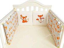 wufeng 6Pcs/set Baby Bed Bumper Crib Cartoon