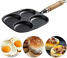 WUFENG Cast Iron Egg Frying Pan, 4-cup Non Stick