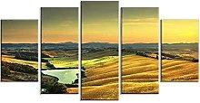 WUHUAGUO 5 Panel Wall Art Landscape Print On