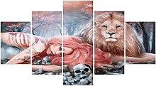 WUHUAGUO Canvas Print Wall Art Anime Tattoo Girl