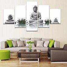 WUHUAGUO Canvas Print Wall Art Buddha For Living