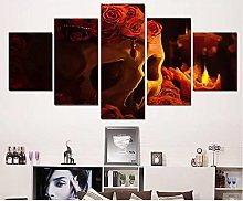 WUHUAGUO Canvas Print Wall Art Living Room With