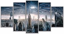 WUHUAGUO Canvas Print Wall Art New York City For
