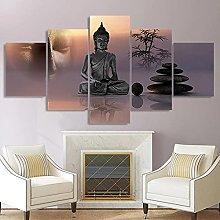 WUHUAGUO Canvas Print Wall Art Zen Buddha Statue