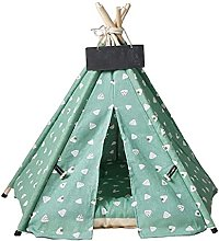 WUHUAROU Cats House Kennels Pet-Tent Teepee Cave