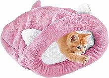 WUHUAROU Cute Pet Cats Sleeping Bed Bag Warm Cozy