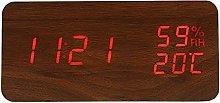 WUHUAROU Modern Led Alarm Clock Humidity