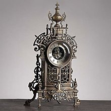 WUJIA Mantel Clock with Zinc Alloy Antique Vintage