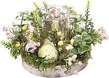 Wusuowei Easter Egg Natural Plant Flower Wreath