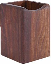 Wusuowei Natural Wooden Desk Pen Holder Stand