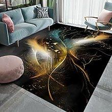 WuTongYu Modern Nordic Style Flowing Gold Carpet