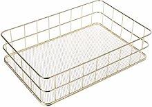 Wuweiwei12 1Pc Storage Basket Copper Wire Bathroom