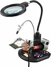 WUYUESUN 2.5X(6D)/4X(12D) 16 SMD LEDs Magnifier