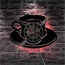 Wwbqcl Coffee shop clock a cup of tea wall clock