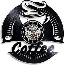 Wwbqcl Coffee Vinyl Record Wall Clock Design