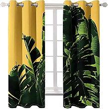 WWJNF Blackout Curtains 106.3 X 84.6 Inch Green