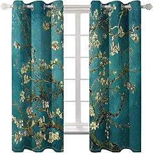 WWJNF Blackout Curtains 110.2 X 96.4 Inch Green