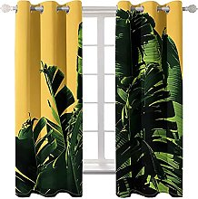 WWJNF Blackout Curtains 118 X 106.3 Inch Green