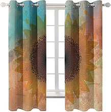 WWJNF Blackout Curtains 59 X 66 Inch Abstract