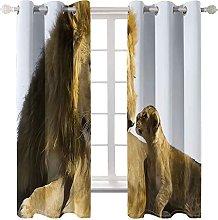 WWJNF Blackout Curtains 59 X 66 Inch Animal Lion