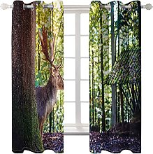WWJNF Blackout Curtains 59 X 66 Inch Fawn In The