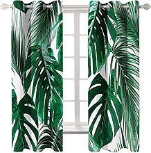 WWJNF Blackout Curtains 94.4 X 90.5 Inch Green