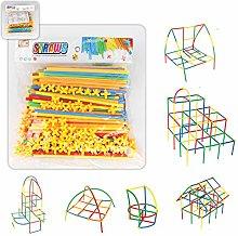 WWmily 300PCS Plastic Straw Builders Building