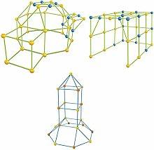 WWmily 87 Pcs/Box Luminous Kids Fort Building Kit