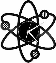 wwwff Science Atomic Vinyl Wall Clock Unique Gift