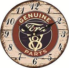 WWWFZS Vintage wall clock,Retro wall clock