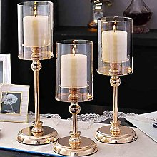 WWWL Candle Holders Gold Metal Pillar Candle