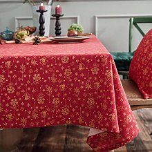 WWWL Table Cloth Style Linen Cotton Christmas