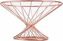 WXF Fruit Basket,Metal Bowl Large Capacity Gold