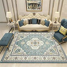 WXJLYZRCXK Home Carpet Nordic Blue Carpets Rug