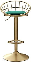 WXking Bar Stools Counter Height Swivel with Back,