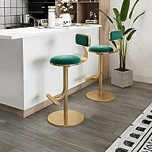 WXking Bar Stools with Back Set of 2 Green