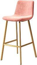 WXking Bar Stools with Backrest, Fabric Velvet