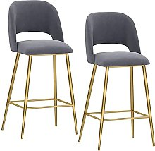 WXking Bar Stools with Backrests and Footrests Set