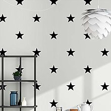Wxlsl Black White Star Baby Nursery Wallpaper for