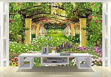 Wxlsl Custom Nonwoven Wallpaper Garden Shelf Hd