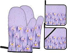 WXM Flowers Composition Frame Made Purple On Oven