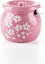 WXQHYD Ceramics Spice Jar With Spoon Creative